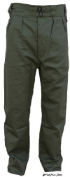 Australian Pattern Tropical Trousers in Jungle Green